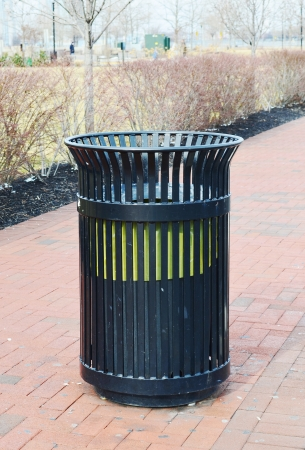 Public Garbage Can Stock Photo - 17996802