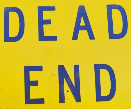 dead end sign photo