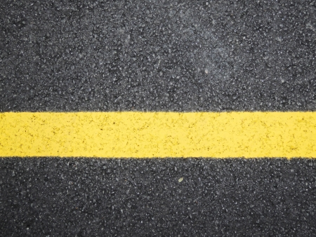 road surface: yellow line sign