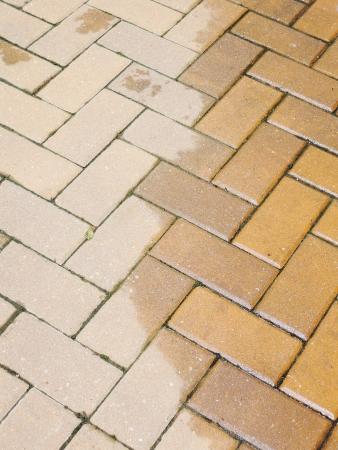 Brick footpath background photo