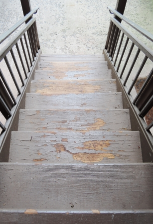 wood old stairs Stock Photo - 21790490