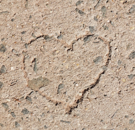 heart on stone floor photo
