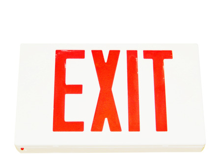 lighted exit sign                    photo