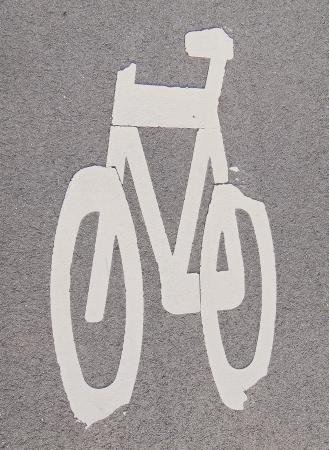 자전거 사인 스톡 콘텐츠 - 24202810