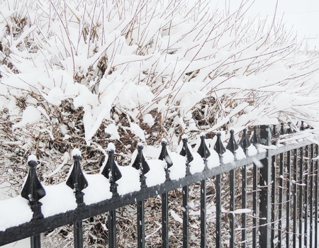 penal system: snow cover fence