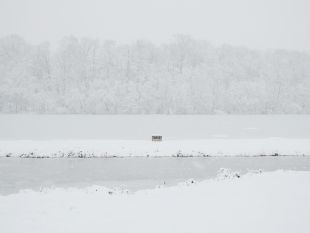 winter in the river