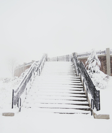 winter stairs photo