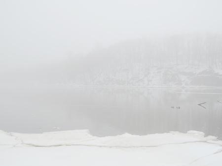 misty lake photo