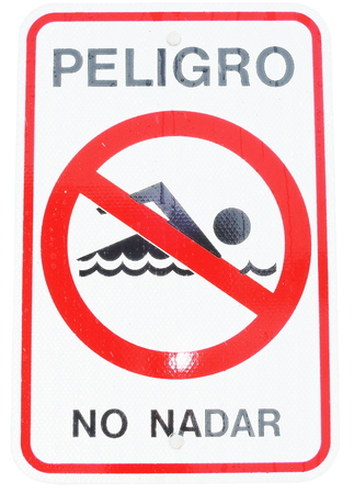 No diving sign photo