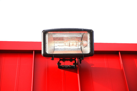 shingle:              lamp on the red roof