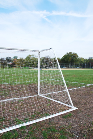 camping pitch: football goals