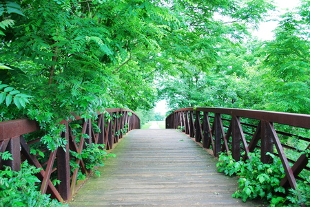 rusty bridge photo