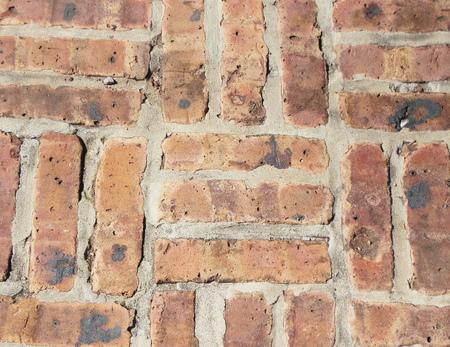 tile flooring: brick wall Stock Photo