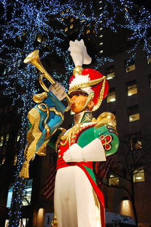 Toy soldier statue at Rockefeller Center