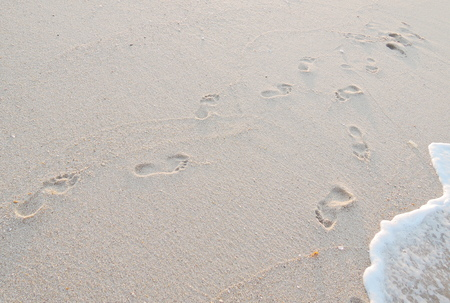 sand mold: footprints in sand