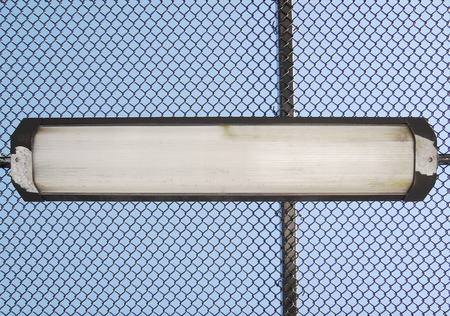 Lamp with wired fence
