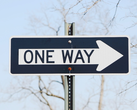 one way sign: One way sign