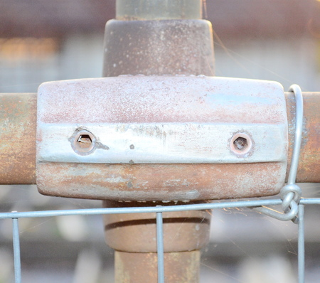 penal system: Fence detail Stock Photo