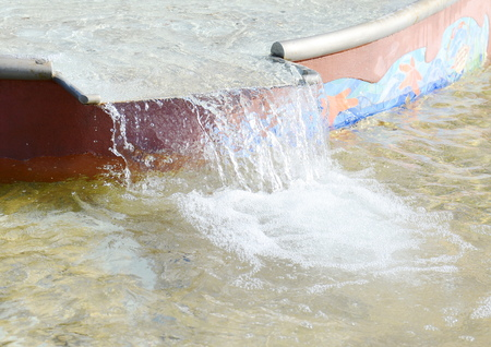 warm water fish: fountain Stock Photo
