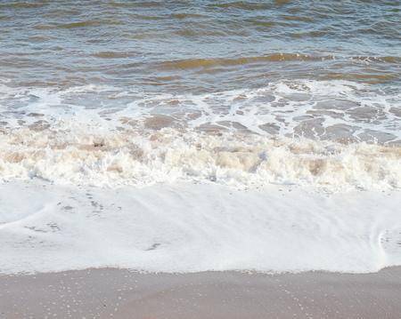 golden texture: Ocean waves Stock Photo