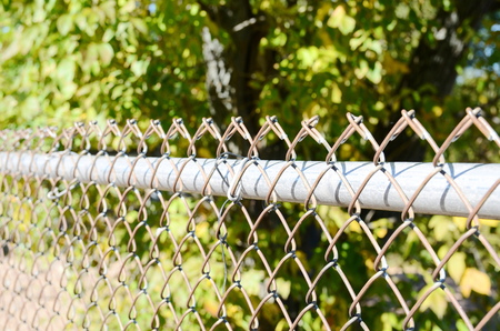 penal system: Wire fence Stock Photo