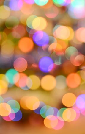 Christmas tree lights background Stock Photo
