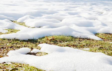 melting: Melting snow Stock Photo