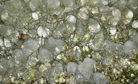 floor covering: Frozen ice Stock Photo