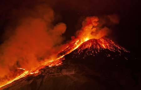 Éruption de l'Etna Banque d'images
