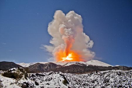etna: Etna Eruption Stock Photo