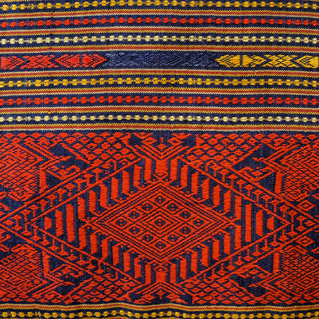 oriental rug: Colorful peruvian style rug surface close up. More of this motif & more textiles in my port.
