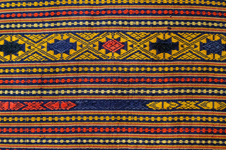 Colorful peruvian style rug surface close up. More of this motif & more textiles in my port.