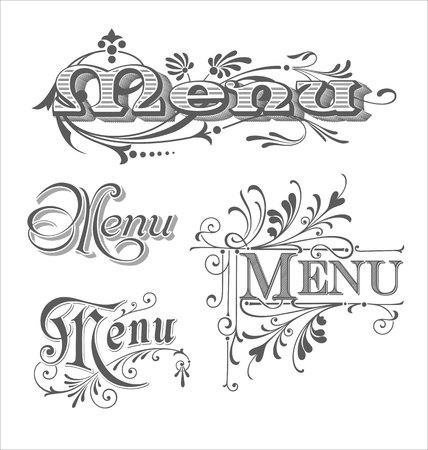 Set of Menu headlines 版權商用圖片 - 47770317