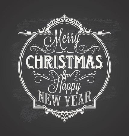 メリー クリスマス黒板  イラスト・ベクター素材