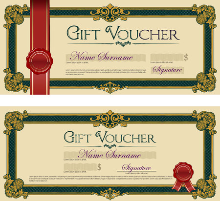 Gift Voucher with Seal Royal Green