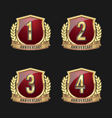 3rd: Gold and Red Anniversary Badge 1st, 2nd, 3rd, 4th Years