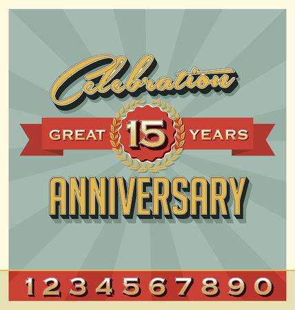 Set of Vintage Celebration Anniversary