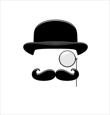 Hipster Black with Monocle