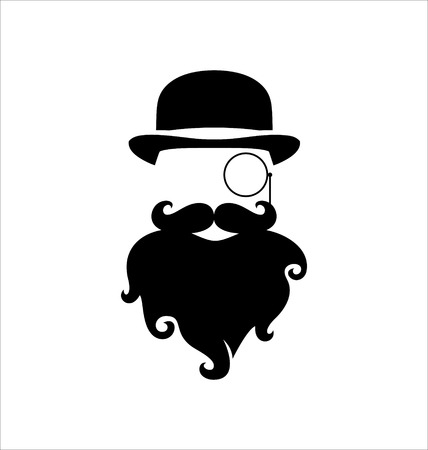 monocle: Hipster, Monocle, Beard