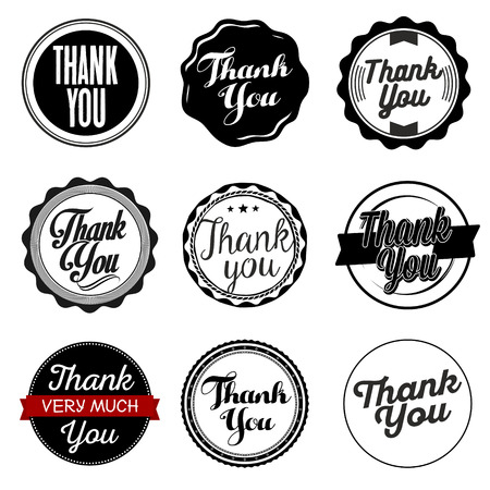 thank you very much: Thank You Sticker. Black and White.