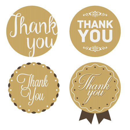 thank you very much: Thank You Sticker. Cardboard, White Print.