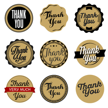 thank you very much: Thank You Sticker. Cardboard.