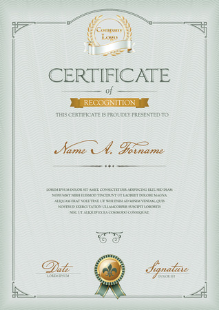 recognition: Certificate of Recognition