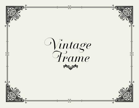 Vintage Ornament Border. Decorative Floral Frame Vector. Illustration