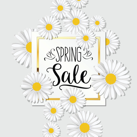 spring: Spring Sale banner. Background for Spring Seasonal Promotion.