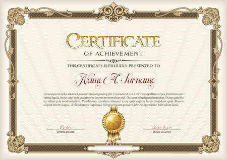 Certificate of Achievement Vintage Frame.