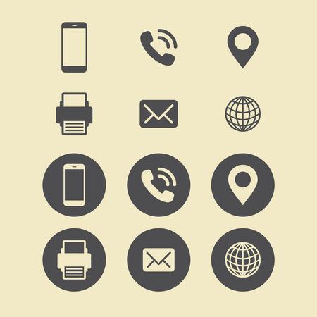 Business Card Icon Set. Web Icons. Illustration