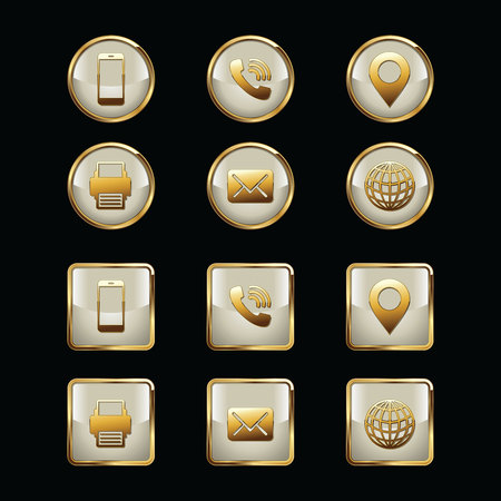 luxuries: Business Card Icon Set. Web Icons. Luxury Icons.
