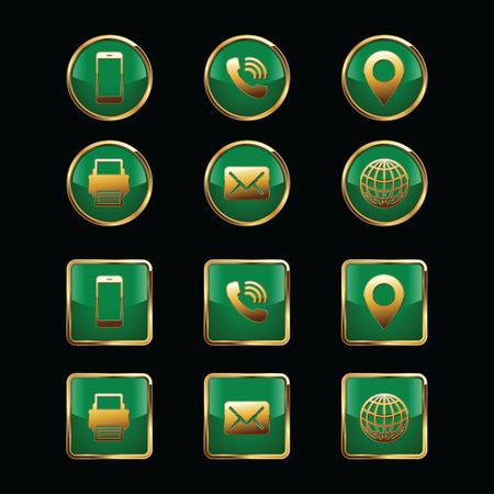 Business Card Icon Set. Web Icons. Luxury Icons.
