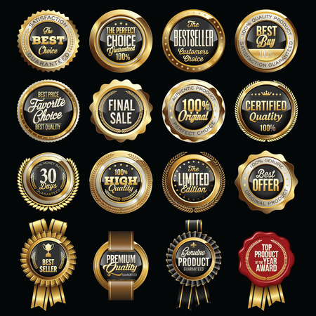 Set of Luxury Sales Quality Badges. Tags.
